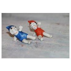 Tiny Bisque Gnomes/Elves  Christmas Dolls