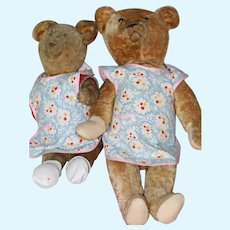 Mama, Baby Vintage ( 2) Aprons For Dolls, Bears