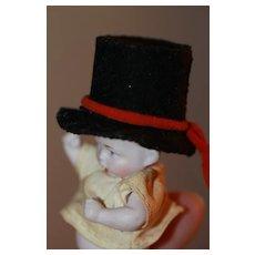 Miniature Top Hat For Antique Dolls