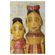 Wood Dolls India Great Colors