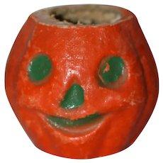 Miniature Antique Papier Mache JOL Pumpkin Halloween for  Dolls