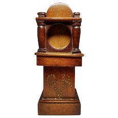 Antique Pocket Watch Holder Grandfather clock form