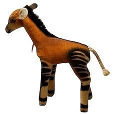 Vintage Velveteen Steiff Okapi