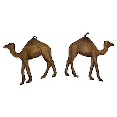 Sweet Pair of German Dresden Camels