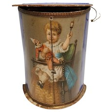 Lovely German Dresden Paper Lithograph Candy Container