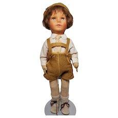 Vintage Kathe Kruse Friedebald Cloth Doll