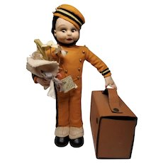 Sweet Italian Felt Bellhop Candy Container Presentation Piece by Magis