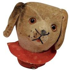 Sweet Early Large Velveteen Dog Head Pin Cushion