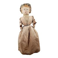 Lovely Antique Oil Cloth Topsy Turvy Black and White Cloth/rag Doll