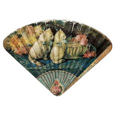 Delightful Early Tin Lithographed Chocolate Candy Box with Cats