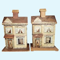 Pair of Matching Early Bliss Doll Houses