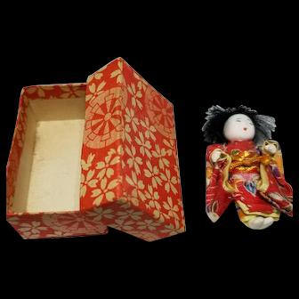 Sweet Miniature Japanese Doll with Original Box