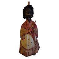 Wonderful Early Black Cloth Doll Broom