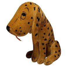Scarce 1920's Dean's Rag Book Dismal Desmond Velveteen Character Dog