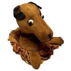Sweet Googly Eyed Velveteen Dog Pin Cushion