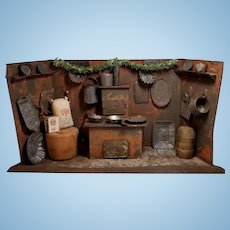 Wonderful Antique German Tin Kitchen Room Box