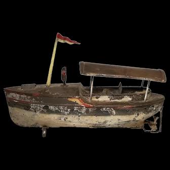 Early Carette Tin Clockwork Riverboat
