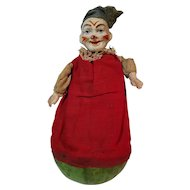 Early German Clown Roly Poly Child's Rattle