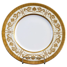 10 Minton 19th Century Adam-Style Gold Encrusted Plates