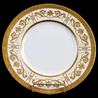 10 Antique Minton Heavily Gilded Plates, England