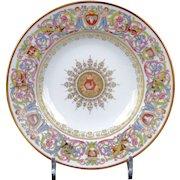 10 Antique Sevres-Style St. Cloud Soup Plates