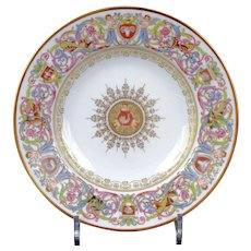 10 Antique Sevres-Style St. Cloud Soup Plates