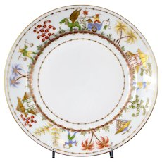 3 Le Tallec for Tiffany: Cirque Chinois Hand-Painted Salad or Dessert Plates