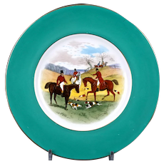 12 Minton Fox Hunt Plates, Handpainted, signed by artist J.E. Dean