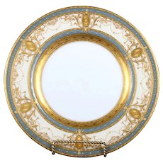 18 Minton Medallion Gold Encrusted Plates