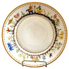 3 Le Tallec for Tiffany: Cirque Chinois Hand-Painted Plate, lunch or dinner