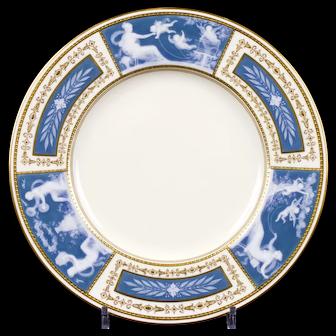 8 Minton Pate-sur-Pate Blue Plates for Tiffany, by artist Albion Birks