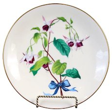 9 Antique Minton Botanical Flower Spray Plates, hand-painted