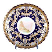 19th Century English Hand-Painted and 2-Color Gilded Dessert Service