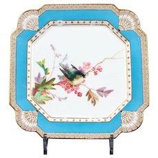 19th Century Hand-Painted English Aesthetic Movement Ornithological Plates