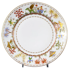 Le Tallec for Tiffany: Cirque Chinois Hand-Painted Dinner Plate