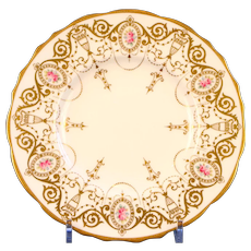 12 Cauldon Neoclassical Style Hand-Painted Plates