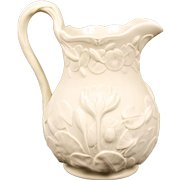 Antique Copeland Floral Salt-Glazed Pitcher