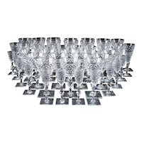 Vintage Hawkes Hand-Cut Crystal Service for 12