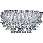 Vintage Hawkes Heavy Hand-Cut Crystal Service for 12
