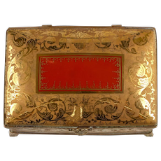 Le Tallec Hand-Painted Dore Bronze Box