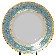 12 Minton for Tiffany Turquoise Dinner or Service Plates
