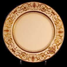 11 Antique Minton for Tiffany Dinner or Service Plates, gilded and platinum beading