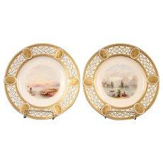Pair of Antique Minton Cabinet Plates hand-painted  sc 1 st  Ruby Lane & Vintage By Maker Porcelain u0026 Pottery Minton   Ruby Lane