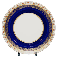 11 Antique Minton Cobalt and Rust Dinner or Service Plates