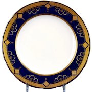 12  Minton For Tiffany Cobalt Medallion Plates