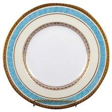 12 Minton Greek Key Bleu Celeste Plates