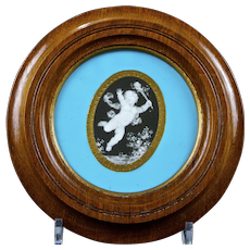 Antique Minton Pate-sur-Pate Porcelain Plaque by Arthur Morgan