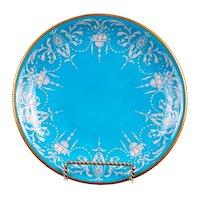 12 Antique Minton Pate-Sur-Pate Bleu Celeste or Turquoise Plates