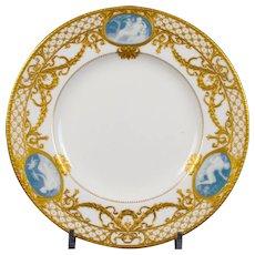 6 Antique Minton for Tiffany Pate-Sur-Pate Plates, by artist Albion Birks