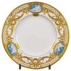 6 Antique Minton for Tiffany Pate-Sur-Pate Plates, by artist Albion Birks